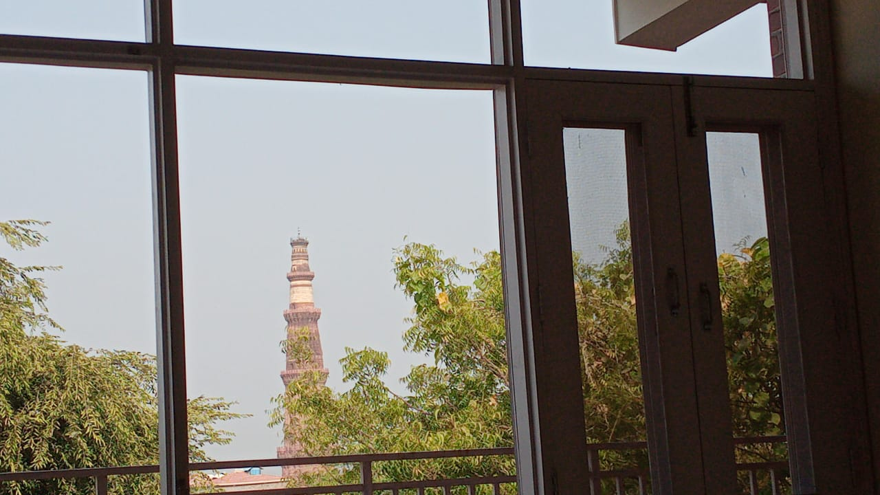 View of the Qutub Minar from the living rooms